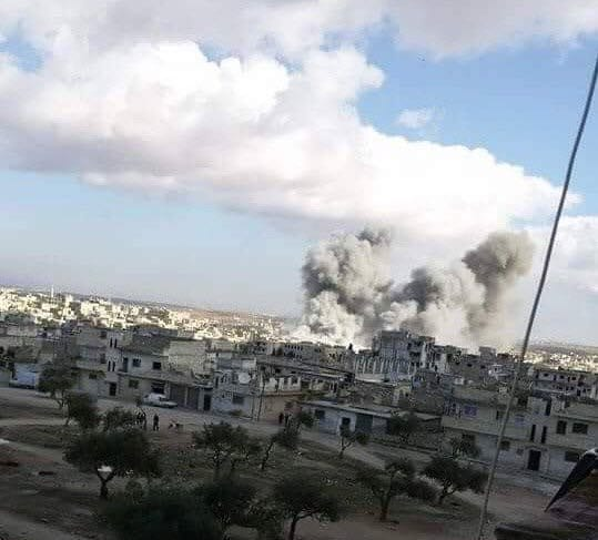 11 killed, inc children in Syrian government & russian airstrikes
