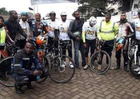Amazing Kenyan Muslims cycle for Hajj