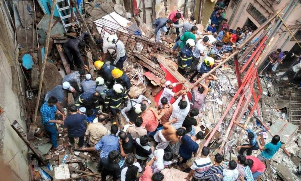 Mumbai building collapsing 5 dead many more still trapped