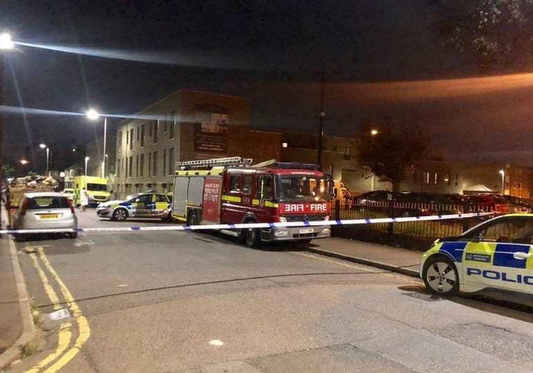 Breaking News: Police in Standoff with a man threatening to blow up a block of flats in East London