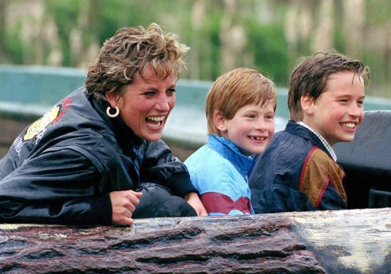 Diana with William and Harry