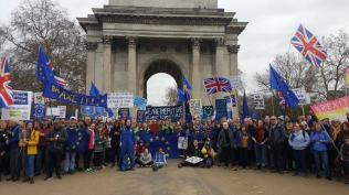 Brexit: huge march planned demanding fresh referendum two weeks before EU exit