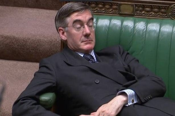 Jacob Rees Mogg in the SUnday Papers