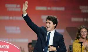 Justin Trudeau-wins -Canadian-election with a slim majority