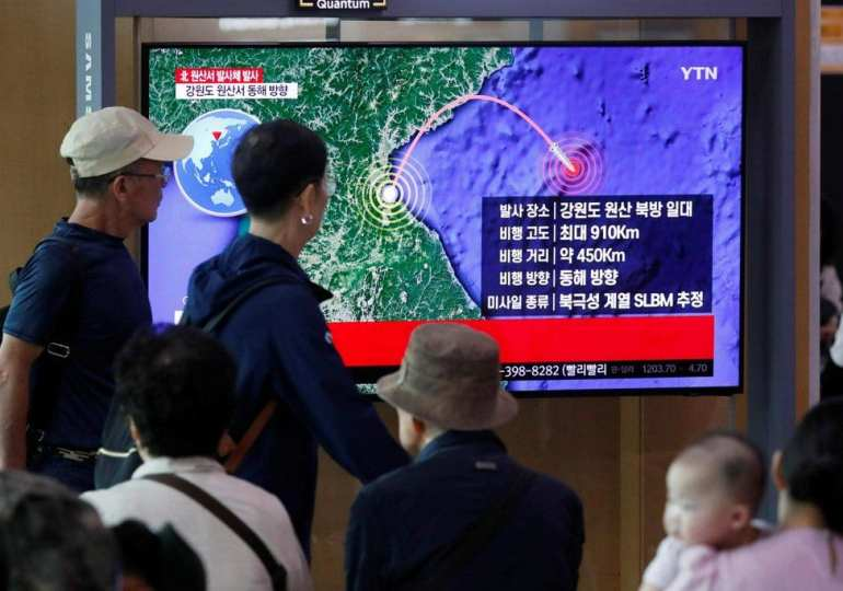 North Korea weapons test 'was of new submarine-launched missle'