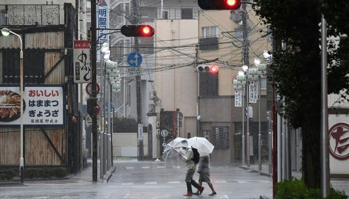 Typhoon Hagibis bashes Japan - in pictures