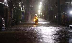 Typhoon-Hagibis power companies and emergency services try to reconnect electric supplies