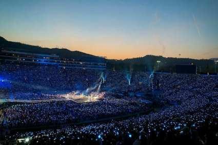 KPOP's BTS on stage