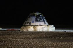 Starliner returns to earth