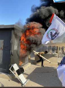 US embassy in Iraq attacked by angry protesters