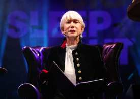 Dame Helen Mirren reads bedtime story at London charity sleepout