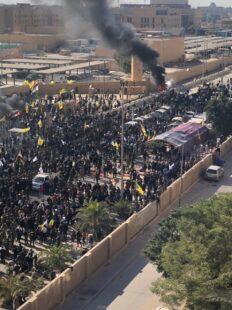 Iraqi Protesters storm US embassy