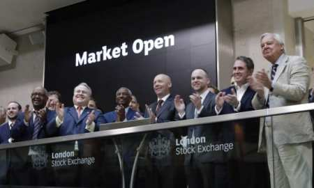 The LSE opening ceremony where guests and companies are invited to ring the bell on the trading floor.