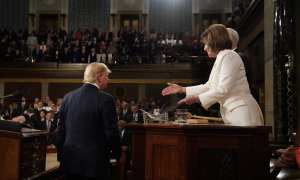trump delivers speech o n eve of impeachment aquittal