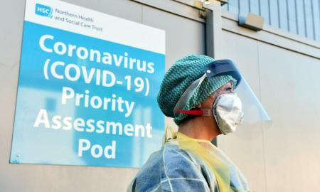 Coronavirus testing area by the NHS as the expect a Tsunami of patients in these next two weeks