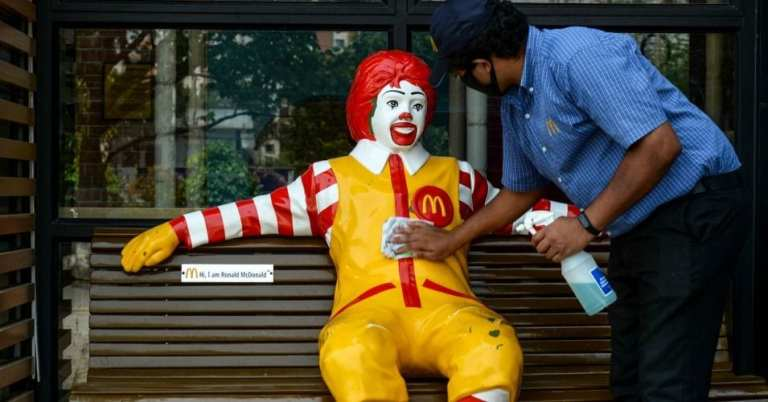 McDonald's workers across US strike for working conditions during coronavirus