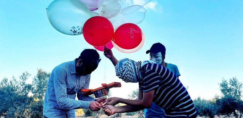 Ballon explosives Israel and Hamas clash again