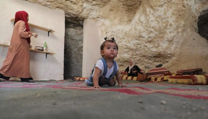 Palestinian family living in cave receives demolition notice from Israel