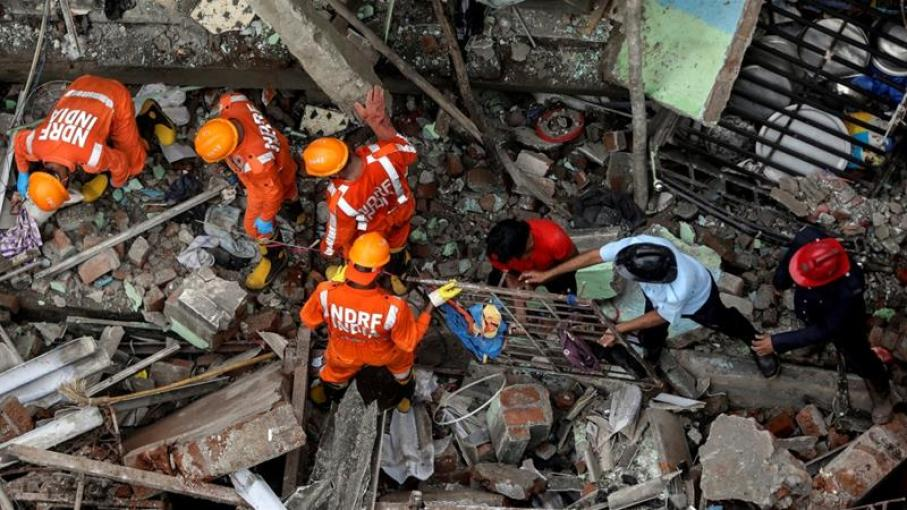 Rescuers searching for survivors of Monday's building collapse