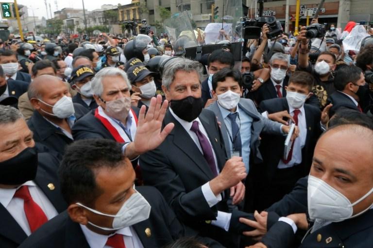 Peru names Francisco Sagasti as third president in a week