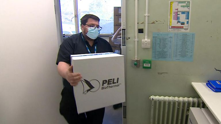 First pictures of coronavirus vaccine arriving at a UK hospital
