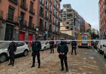 Massive Gas explosion in Madrid, 3 killed, 8 Injured