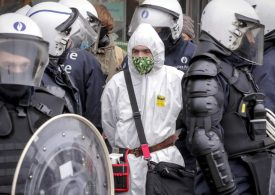 Hundreds arrested at anti-lockdown demonstration in Brussels Today, Bruxelles