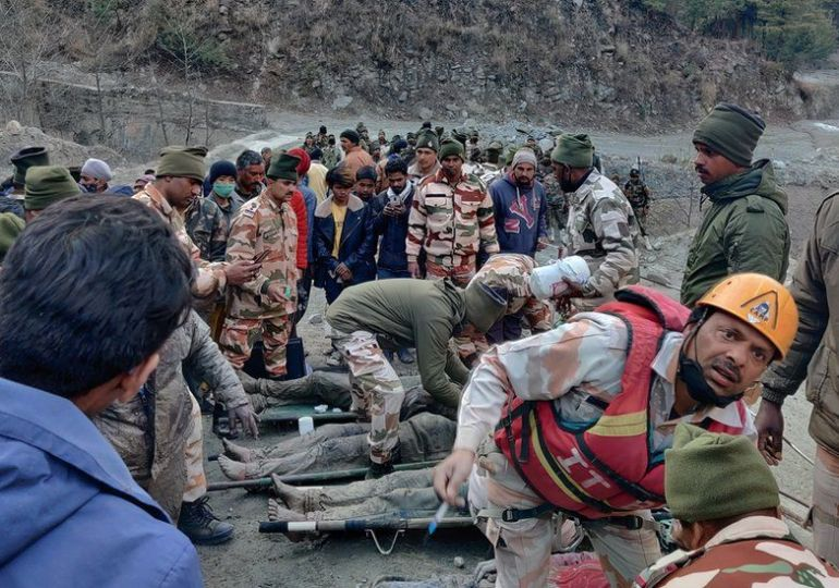 India hit by Himalayan glacier breaks & floods Uttarakhand - 200 still missing - Video