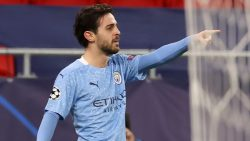 Bernardo Silva celebrates in City Champions League win vs Mönchengladbach