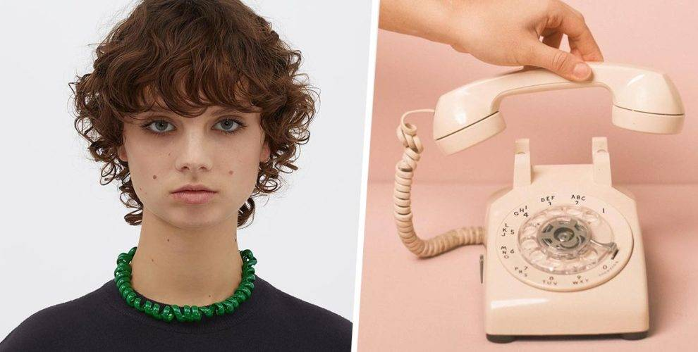 The ridiculous $1.4k luxury telephone cord necklace