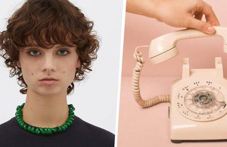 The ridiculous $1.4k luxury necklace, that looks like a telephone cord