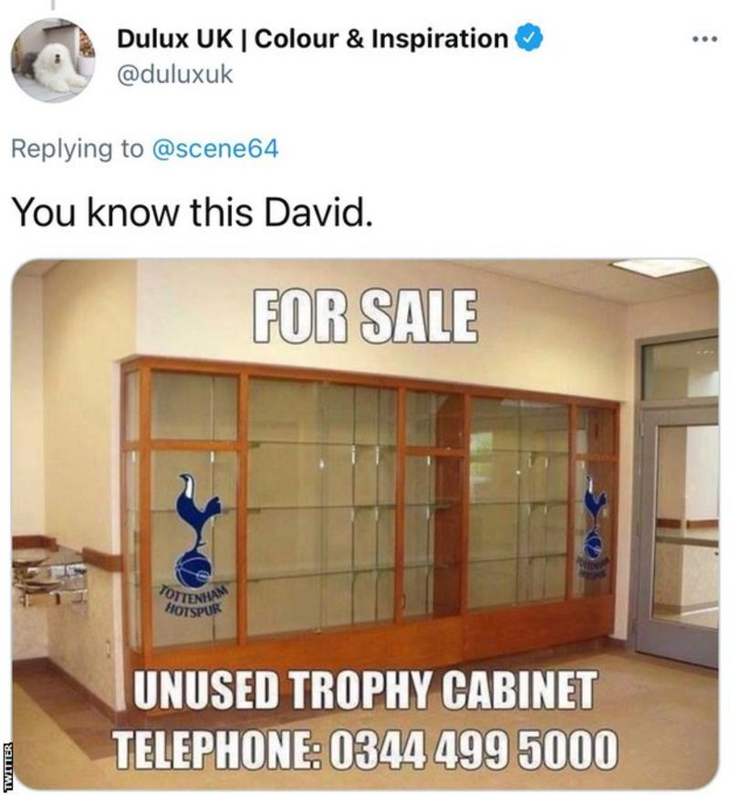 Dulux apologises for mocking Tottenham Hotspurs
