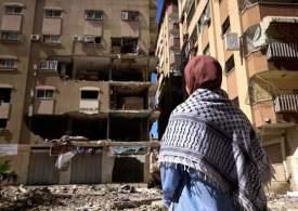 Dead Children on the street in Gaza after Israel's Massacre