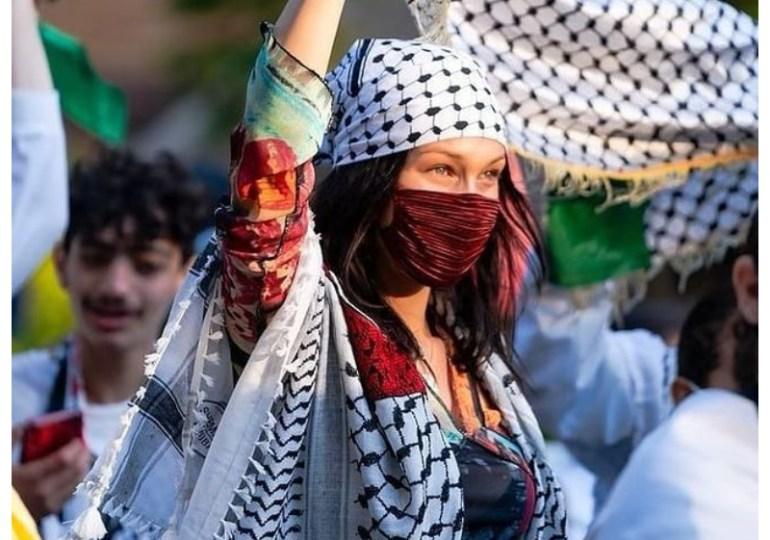 Bella Hadid marches to Free Palestine, after tearful post - 'deep sense of pain'