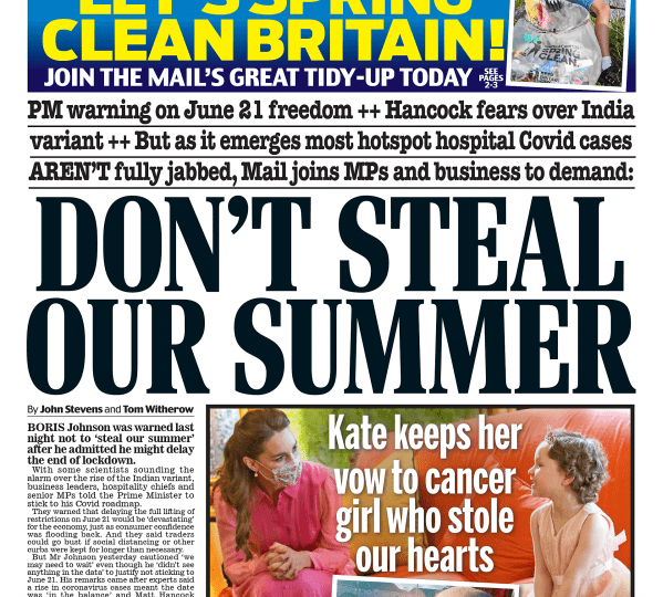 Daily Mail - Don't steal summer 2021