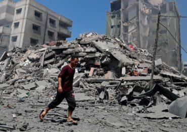Israel's barrage of air strikes Gaza resume, toppling buildings