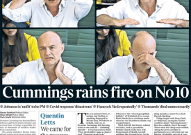 The Times - Dominic Cummings rains fire on No 10