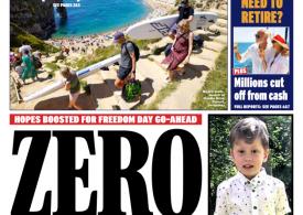 Daily Express - Zero UK Covid-19 deaths