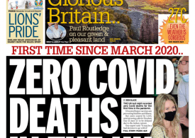 The Daily Mirror - Zero Covid-19 deaths, proof vaccine rollout is working