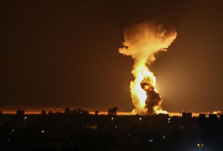 Israel bombs Gaza with airstrikes in retaliation for Hamas incendiary balloons