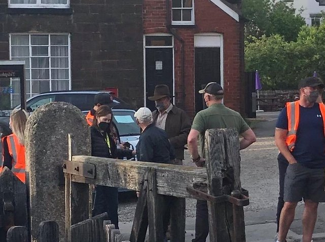 Harrison Ford joins North Shields locals for lunch at Indiana Jones filming