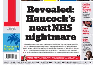 The i - Matt Hancock's next HNS nightmare