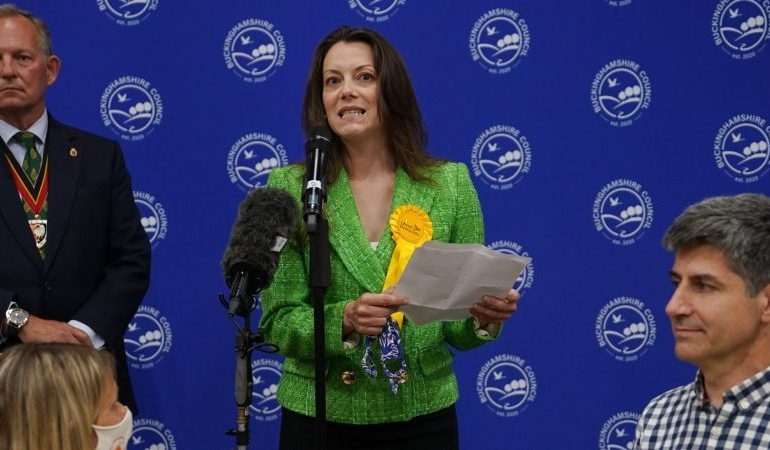 Liberal Democrats take Tory stronghold with historic win in Chesham and Amersham by-election