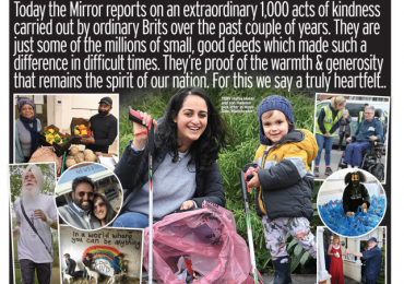 The Daily Mirror - 1,000 acts of kindness over pandemic