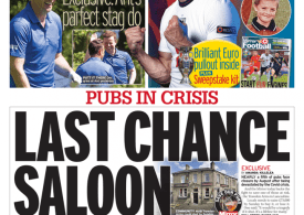 Daily Mirror - Last chance saloon, £75k to raise in days