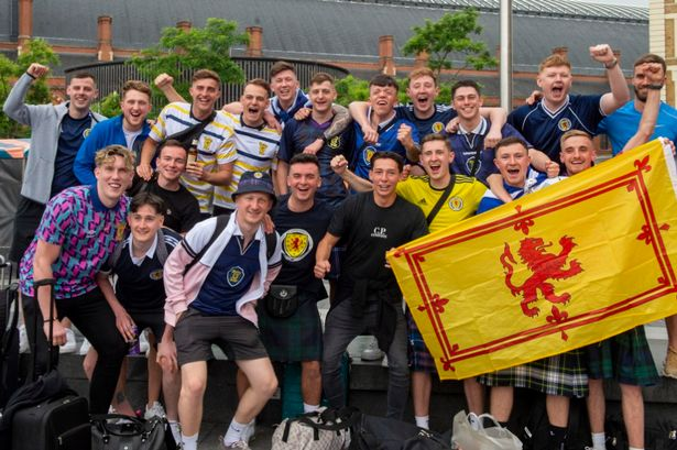 Euro 2020: Scots football fans arrive all kilted up with nowhere to go