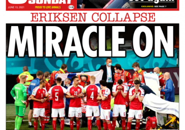 Sunday Papers: Euro 2020 'Miracle' & G7 'barney on the beach'
