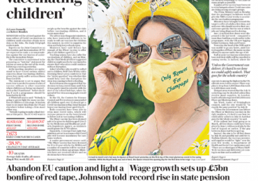 The Daily Telegraph - No green light to vaccinate kids