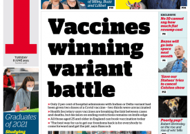 The I - Vaccines winning Covid-19 variant battle