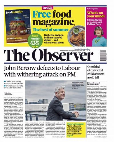 Sunday Papers: Archie will never be a prince - Bercow joins Labour - Fight against more lockdowns